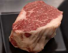 【熊本県肥育馬肉】焼肉・馬テキ用『馬肉 霜降りステーキ』 馬脂付き 約200g ※冷蔵