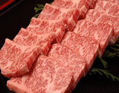 山勇畜産・【焼き肉用】飛騨牛5等級 極上カルビ肉 約500g ※冷凍