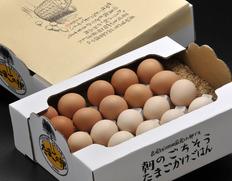 【20個入り】瀧田養鶏場の『もみじたまご』と『さくらたまご』各10個入り(内割れ保障4個)※籾殻入り