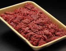 【鹿角短角牛・吊るし30日熟成】挽き肉(細挽き) 約500g ※冷蔵