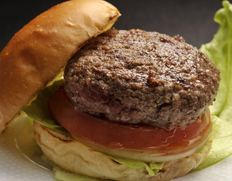 【鹿角短角牛・吊るし30日熟成】ハンバーガー用 ネックの中挽き肉(ケンネ20%入り)約500g ※冷蔵