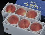 山梨県産 「春日居の桃」 《特秀》 中玉 3玉×2箱 約1.5kg 化粧箱※常温の商品画像