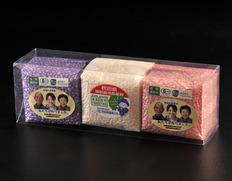 【令和元年度産・新米】 農薬・化学肥料不使用 特別栽培米ササニシキ・有機JAS認証あきたこまち&ひとめぼれセット(各300g)由利本荘産