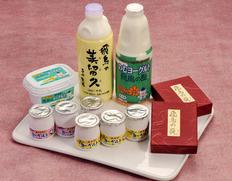 西井牧場 みるく工房飛鳥 『飛鳥ロマンセット』(蘇・牛乳・酪・ヨーグルト2種) ※冷蔵