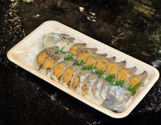 琵琶湖特産「ふな寿司」(ニゴロブナ メス)1尾スライス(目安として:90g) ※冷蔵