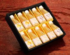 【乳酸菌×米糀から生まれた甘酒】『白神ささら』200ml×10本セット(プレーン×4本、りんご・ゆず×各3本) 化粧箱入