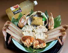 12月到着 『〆までうまい松葉ガニ夫婦鍋セット』2人前(松葉ガニ大1000g級1杯・せこ蟹2杯)特製スープ付 ※冷凍