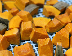 北海道産 栗マロンかぼちゃ ブロックタイプ(500g×5パック) ※冷凍