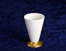 大倉陶園作 白磁酒杯「高台金仕様」 食文化 萩原章史プロデュース