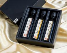 非焙煎・無ろ過 「生搾り ごま油 3種セット」 鳥取県産 白・金・黒 各1本(110g) 化粧箱