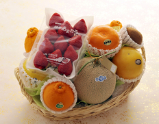 豊洲の目利き厳選『旬のフルーツバスケット』果物 かご盛り ※冷蔵または常温