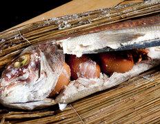 讃岐名産『天然真鯛の濱焼き』 香川県産  4人前(1.1〜1.2kg) ※冷蔵