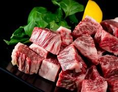 『都萬牛』 宮崎県産 黒毛和牛 サイコロステーキ(肩ロース) 約400g ※冷凍