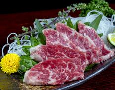 【熊本県肥育馬肉】『極上霜降り三枚目馬刺し』 約200g ※冷凍