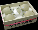 静岡県産 『クラウンメロン』  雪等級又はA品 大玉4〜6玉  産地箱 計約8kg ※常温【◆】の商品画像