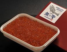 「銀聖 醤油漬いくら」北海道日高沖産 400g プラ化粧箱入 ※冷凍