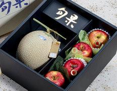 『香りのフルーツボックス』こみつ3玉+クラウンメロン1玉(約1.1kg) ※常温