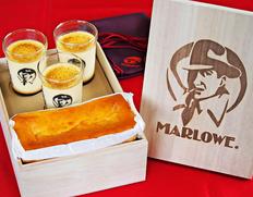 マーロウ 桐箱入りおすすめプリンとケーキセット ※冷蔵