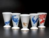 大倉陶園作 干支の酒杯「申・酉・戌・亥・子」 各1杯の商品画像
