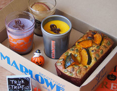 マーロウのTrick or Treat プリンと栗マロンかぼちゃのパンプキンパウンドケーキのセット ※冷蔵
