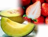 『高級フルーツセット』 静岡県産 クラウンメロン 約1kg+佐賀県産 いちごさん 約240g×2パック ※冷蔵の商品画像
