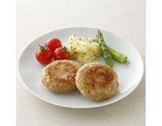 【給食応援】国産鶏豚バーグ  1袋 3kg(60g×50個入り) ※冷凍