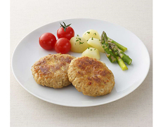 【給食応援】『国産鶏のハンバーグ』2.5kg 1袋(50g×50個入り) ※冷凍