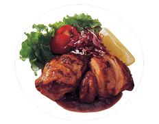 【給食応援】「若鶏のバーベキューソース焼」100個 5kg(50g×10個入×10パック) ※冷凍