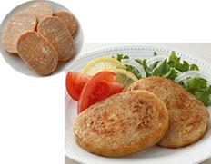 【給食応援】「荒挽ボロニアステーキ」国産 3kg(60g×25枚×2袋) ※冷凍