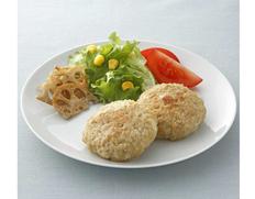 【給食応援】国産鶏の豆腐入りバーグ 50個 (1個:80g/1袋) ※冷凍