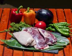 『フランス鴨(バルバリー種)のロース肉』オス・メス混合 計約1kgのお取り寄せ通販
