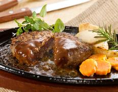 《原料在庫過多》国産牛ハンバーグプレート 1kg ※冷凍【フードロス削減】
