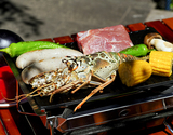 Snow Peak BBQ Aセット+『全3回分の食材(ハンバーガー・ソーセージ・海鮮)』(2人前)※冷凍の商品画像