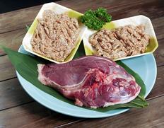 青森県産 銀の鴨『胸肉と肝入りつみれ(バルバリー種・メス)』 胸肉 半身1枚 約420g、肝入りつみれ 100g×2P ※冷凍