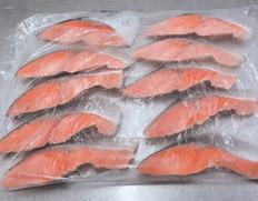 5/17〜29出荷 【食べて応援】チリ産銀鮭 1.2kg(40g×10枚×3袋)賞味期限10月31日 ※冷凍
