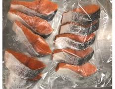 5/17〜29出荷 【食べて応援〇】チリ産トラウトサーモン切身 500g(50g×10枚)※冷凍