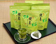 いしだ茶屋『濃旨緑茶ティーバッグ』国産ブレンド 6袋(1袋:5g×25P) ※常温【◆】