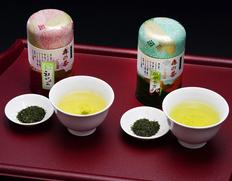 いしだ茶屋 静岡県『かがやき・初摘み』各90g缶入り ※常温【◆】