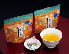 いしだ茶屋『森の深蒸し茶 ふくよ香』(ティーバッグ)静岡県森町産 和チャック袋2袋(1袋:3g×11個) ※常温
