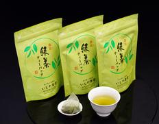 いしだ茶屋『濃旨緑茶ティーバッグ』国産ブレンド 3袋(1袋:5g×25P) ※常温