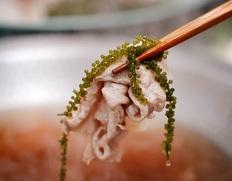【沖縄応援】海ぶどうとあぐー豚の「おきなわ鍋しゃぶ」7品(ミーバイ、もずく、沖縄そば、他)3〜4人前 ※冷凍