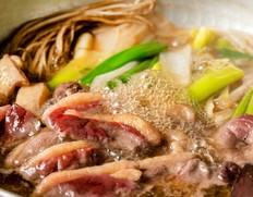 【3月限定】琵琶湖長浜「魚三」の天然鴨(メス)(調理済み半羽分)2〜3人分 ※冷蔵
