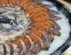 『大皿 子持ちふな寿司』(天然ニゴロブナ メス)1尾(目安として:315g前後)  ※冷蔵