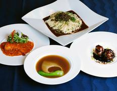 赤坂四川飯店厳選セット 2人前 (ふかひれの姿煮、海老のチリソース、黒酢のスブタ、汁なし担々麺)のお取り寄せ通販