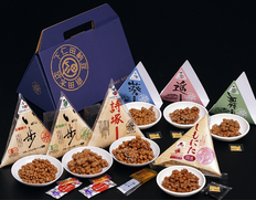 下仁田納豆『7種 食べ比べセット』大粒・中粒・小粒 15P(計950g) ※冷蔵(ふるさとセット)