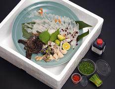 『下関 古串屋の天然虎魚(おこぜ)の刺し盛』2〜3人前 ※冷蔵