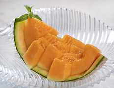 茨城県 JA茨城旭村 『赤肉メロン』 糖度14度以上 秀品限定 特大4Lサイズのお取り寄せ