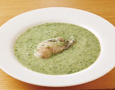 すぱいす 宮城 唐桑の畠山さんの牡蠣を使用!『極上のかきと日本ほうれん草のチャウダー』(1人前 180g)×3P ※冷凍