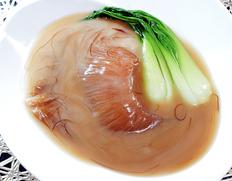 『国産 特大フカヒレ姿煮(吉切鮫 尾ヒレ)』300g(フカヒレ200g+スープ100g)千葉県館山 ※冷凍