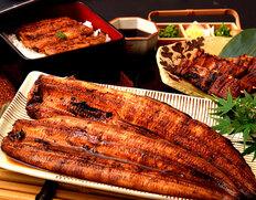 浜名湖食品『うなぎ蒲焼堪能セット』 (長焼き約170g×2尾、串焼き60g×4食、タレ・山椒×8袋)化粧箱※冷凍